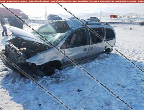 Ավտովթար Արագածոտնի մարզում. 44-ամյա վարորդը, Opel-ով մի քանի պտույտ շրջվելով, գլխիվայր հայտնվել է դաշտում. կա վիրավոր