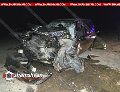 Արագածոտնում բախվել են Land Rover-ն ու ԶԻԼ-130-ը, որը հայտնաբերվել է վթարի վայրից 1,5 կմ հեռու՝ կողաշրջված վիճակում