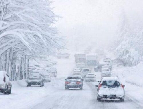 «Մեղրու սար» կոչվող հատվածում, Սպիտակ, Ստեփանավան քաղաքներում ձյուն է տեղում
