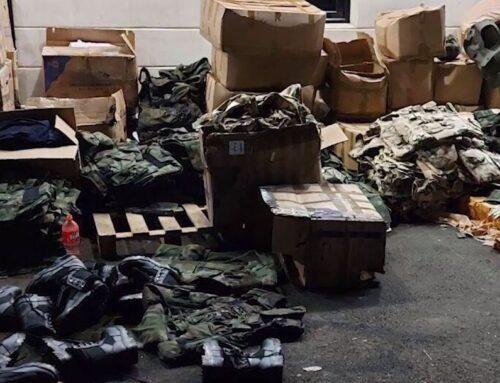 Անհայտ անձը փորձել էր հրկիզել 17 միլիոն 375 հազար դրամին համարժեք զինվորական հանդերձանք