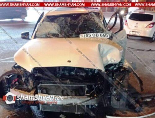 Ավտովթար Երևանում. բախվել են Mini Cooper-ը, Mercedes-ն ու Daewoo-ն. կան վիրավորներ