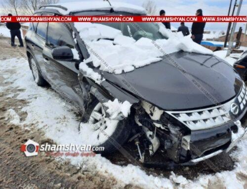 Խոշոր ավտովթար Շիրակի մարզում. բախվել են Nissan Murano-ն ու ВАЗ 2106-ը. կան վիրավորներ
