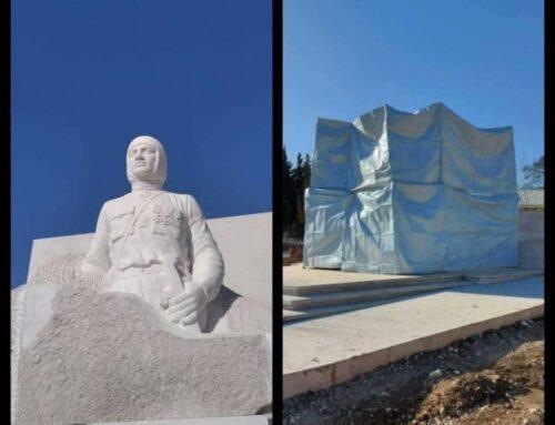 Արցախում Գարեգին Նժդեհի արձանը «փաթեթավորել» են՝ ադրբեջանցիների պահանջով