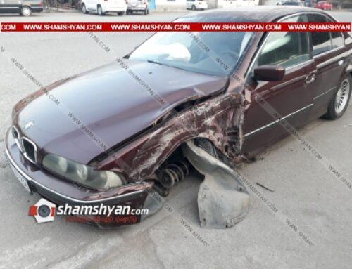 Ավտովթար Արմավիրի մարզում. բախվել են BMW-ն ու ВАЗ 21102-ը. կա վիրավոր
