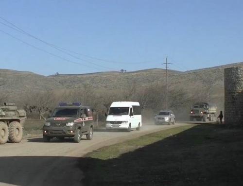 Շուրջ 30 ուխտավորներ ռուս խաղաղապահների ուղեկցությամբ այցելել են Ամարասի վանք