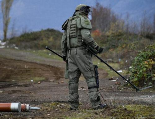 Արցախում առայսօր ականազերծվել է 1 548 հա տարածք և 484 կմ ճանապարհ, հայտնաբերվել է 24 994 պայթուցիկ առարկա․ ՌԴ ՊՆ