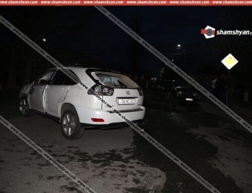Ավտովթար Կոտայքի մարզում. Նոր-Հաճն քաղաքում բախվել են Lexus-ն ու Mercedes-ը. կա վիրավոր