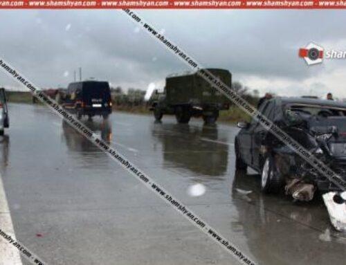 Արարատի մարզում բախվել են Mercedes-ը, ЗИЛ-ն ու Honda-ն. վերջինս բախվել է արգելապատնեշին
