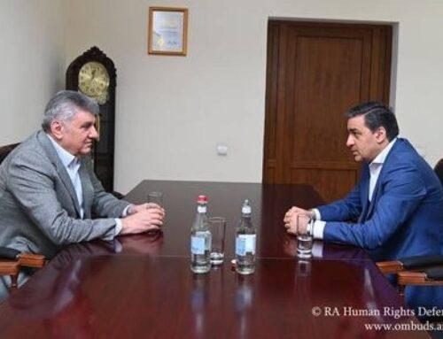 ՀՀ ՄԻՊ–ը Ռուսաստանի հայերի միության նախագահի հետ քննարկել է ՌԴ-ում հայերի իրավունքների պաշտպանության հարցերը