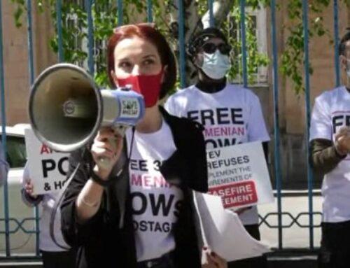 «Վերադարձրեք հայ գերիներին». Լուռ բողոքի ակցիա՝ ՄԱԿ-ի գրասենյակի դիմաց