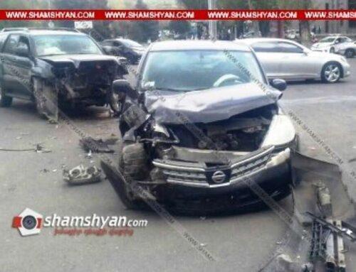 Երևանում բախվել են Toyota-ն և Nissan-ը. կա վիրավոր