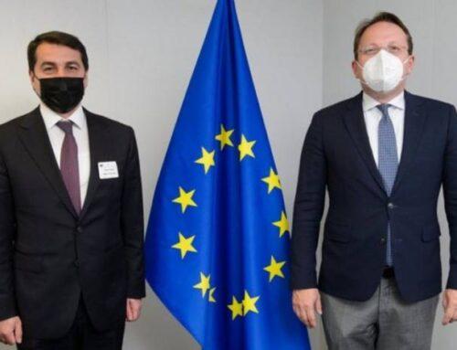 Ղարաբաղյան իրադրությունը քննարկվել է ԵՄ հարեւանության եւ ընդլայնման հարցերով հանձնակատարի հետ
