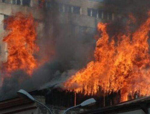 «1 ԲԻՍ» կանչով հրդեհ՝ Պուշկին-Սարյան խաչմերուկում․ այրվել է 240 քմ տարածքով տանիք