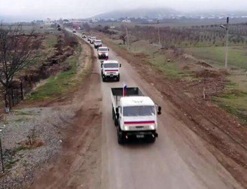 Ռուս խաղաղապահների ուղեկցությամբ 330 տոննա օգնություն է ուղարկվել Քարվաճառ