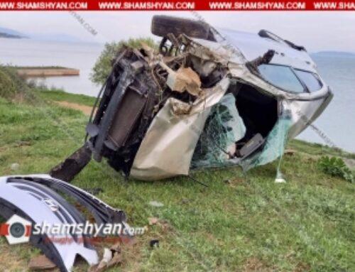 29-ամյա վարորդը Hyundai Elantra-ով կողաշրջված հայտնվել է Սևանի ափին. կա վիրավոր