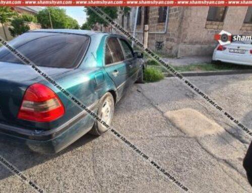 Արմավիրում բախվել են «Mercedes»-ն ու «BMW»-ն. վերջինս բախվել է պատին, կա վիրավոր