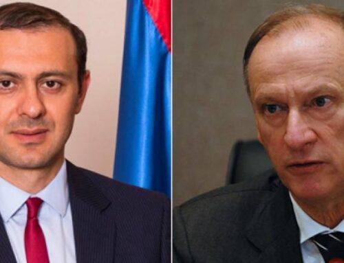 Արմեն Գրիգորյանը եւ Նիկոլայ Պատրուշևը քննարկել են հայ-ադրբեջանական սահմանին ստեղծված իրավիճակը