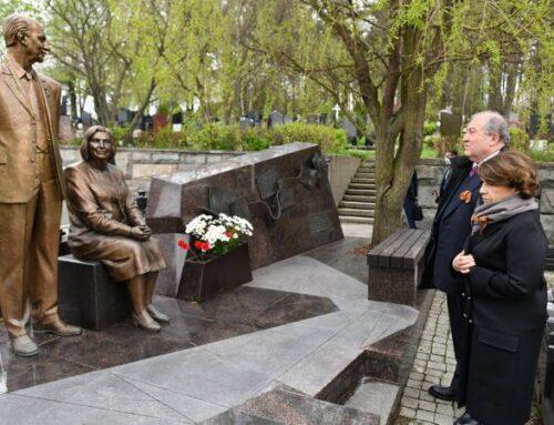 Նախագահ Սարգսյանը Մոսկվայում հարգանքի տուրք է մատուցել հետախույզներ Գևորգ և Գոհար Վարդանյանների հիշատակին