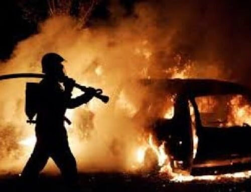 Երևան-Գյումրի ավտոճանապարհին մեքենա է այրվել