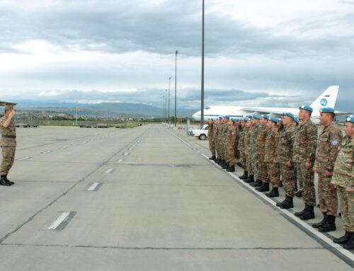 Խաղաղապահ զորախումբը վերադարձել է Հայաստան