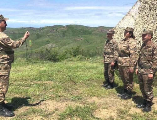 Կապավորներն անցկացրել են վարժանքներ, ստուգվել են զինծառայողների մասնագիտական գիտելիքները