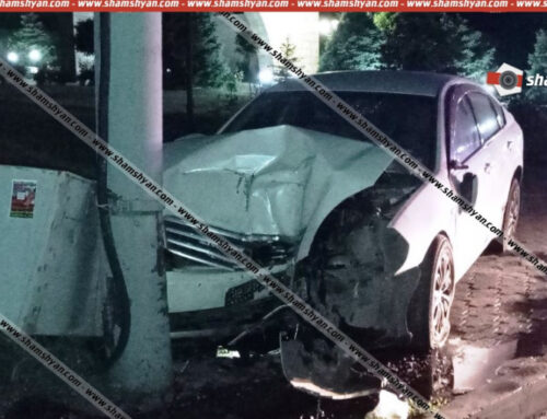 Nissan-ը Եռաբլուրի ճանապարհին դուրս է եկել երթևեկելի գոտուց և բախվել էլեկտրասյանը․ վարորդը տեղափոխվել է հիվանդանոց․ Shamshyan.com