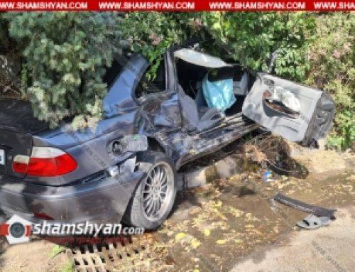 Ավտովթար՝ Երևանում. ժողովրդին հայտնի «Սառը ջրերի» մոտ բախվել են Volkswagen-ն ու BMW-ն, BMW-ն հայտնվել է կանաչ գազոնում, կա վիրավոր