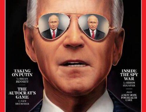Time պարբերականն առաջին էջում տեղադրել է Բայդենի լուսանկարը՝ որտեղ ԱՄՆ նախագահի «աչքերում» Պուտինի արտացոլանքն է