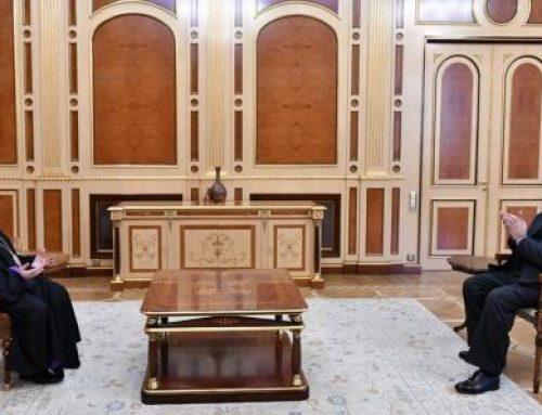 Արմեն Սարգսյանին ծննդյան օրվա առթիվ շնորհավորել է Ամենայն Հայոց Կաթողիկոսը