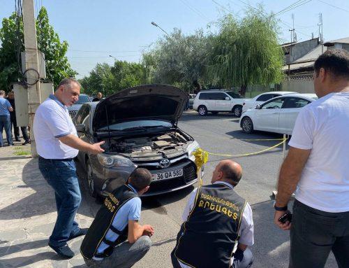 Նռնակ են գցել Միհրան Հակոբյանի մեքենայի տակ