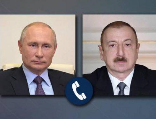 Վլադիմիր Պուտինը և Իլհամ Ալիևը հեռախոսազրույցով քննարկել են եռակողմ համաձայնագրերի իրագործման հարցերը