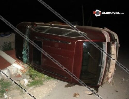 «Զոնտիկների» մոտ Mercedes-ի վարորդը ոչ սթափ վիճակում բախվել է կայանված Porsche Cayenne-ին. վերջինս շրջվել է