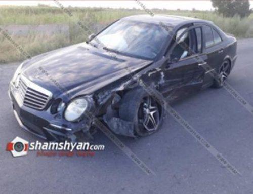 Արմավիրում բախվել են Mercedes-ն ու Mitsubishi Galant-ը. կան վիրավորներ