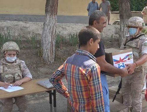 Խաղաղապահներն օգնություն են հասցրել ԼՂ հեռավոր շրջանների բազմազավակ ընտանիքներին