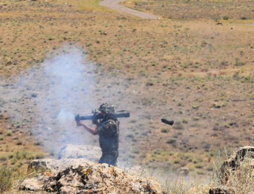 Զինծառայողներն իրենց կցագրված զենքերով կատարել են կրակային վարժանքներ՝ դրսևորելով բարձր պատրաստվածություն