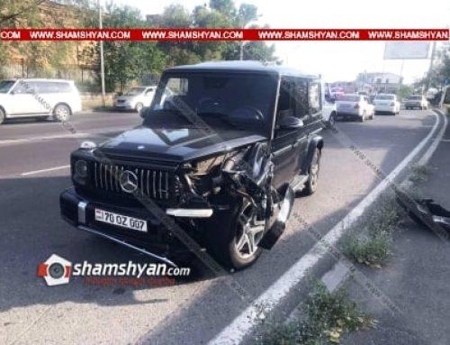 Թբիլիսյան խճուղում բախվել են Mercedes G և Opel մակնիշի ավտոմեքենաները. կա վիրավոր