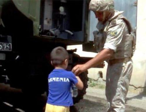 Ռուս խաղաղապահները ջրի պահպանման տարաներ են առաքել Հայաստանից Արցախ
