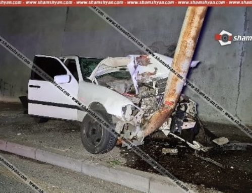 Երեւանում երկու «Mercedes» է իրար բախվել, որոնցից մեկը դուրս է եկել երթեւեկելի գոտուց