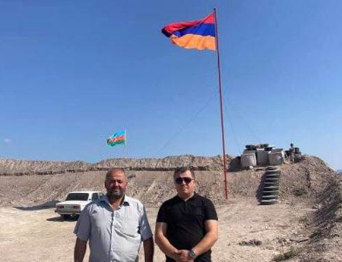 Հայկական նոր դրոշ Տեղում. Այն ադրբեջանականից բարձր է