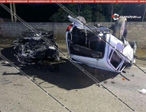 Կապանում բախվել են Mercedes-ն ու Niva-ն. վերջինս գլխիվայր շրջվել է, կա վիրավոր