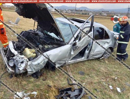 Խոշոր ավտովթար՝ Գեղարքունիքի մարզում. բախումից Mercedes-ը հայտնվել է դաշտում, կա 3 վիրավոր