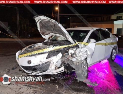 Խոշոր ավտովթար՝ Երևանում. բախվել են Mazda-ն ու Opel-ը, 3 վիրավորներից մեկին ավտոմեքենայից դուրս են բերել փրկարարները