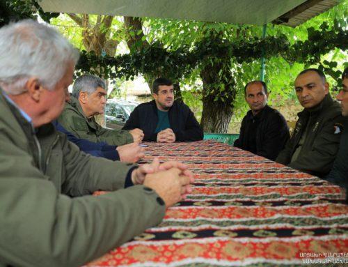 Արցախի նախագահն այցելել է Թաղավարդ համայնք, քննարկվել են նաև տեղահանվածների բնակարանային հարցերը