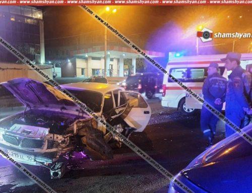 «Բելաջիո» ռեստորանի դիմաց բախվել են Toyota Corolla-ն ու ГАЗ 3110-ը, կա վիրավոր. shamshyan.com