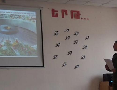 Ռուս խաղաղապահները դաս-վիկտորինա են անցկացրել Լեռնային Ղարաբաղի դպրոցներում. ՌԴ ՊՆ