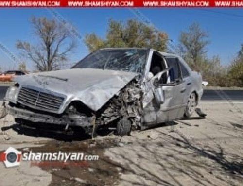 Խոշոր ավտովթար Արմավիրի մարզում. բախվել են Mercedes-ն ու Toyota Rav4-ը. կան վիրավորներ