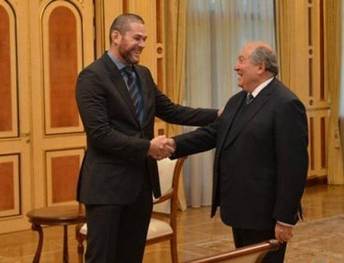Փորձելու եմ ճանաչել Հայաստանը, նորից կայցելեմ. ՀՀ նախագահը հյուրընկալել է բրազիլական ջիու-ջիթսուի աշխարհի չեմպիոնին