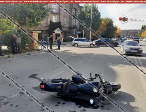 Գյումրիում բախվել են 35-ամյա վարորդի Opel-ն ու 43-ամյա վարորդի մոտոցիկլը, վերջինս կողաշրջվել է, մոտոցիկլավարը տեղափոխվել է հիվանդանոց. shamshyan.com